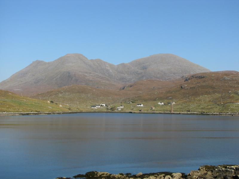Looking across the loch towards the chalet
