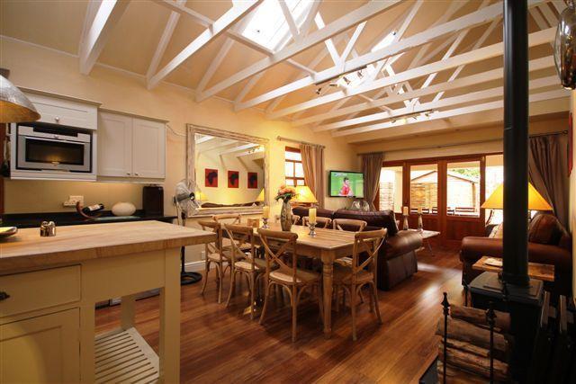 Diningroom with wood burning Fireplace