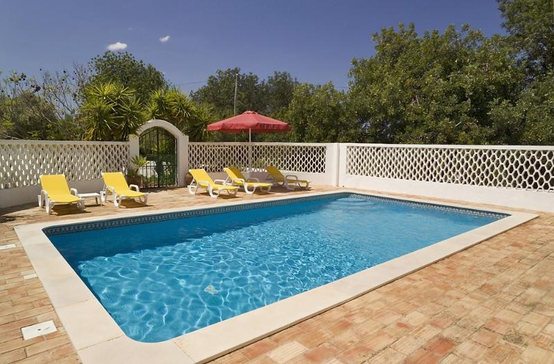 Private solar heated swimming pool and sun terrace. Pool area fully gated for children.