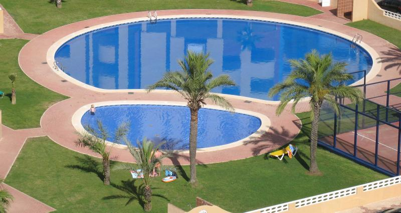 Pools and paddle tennis court