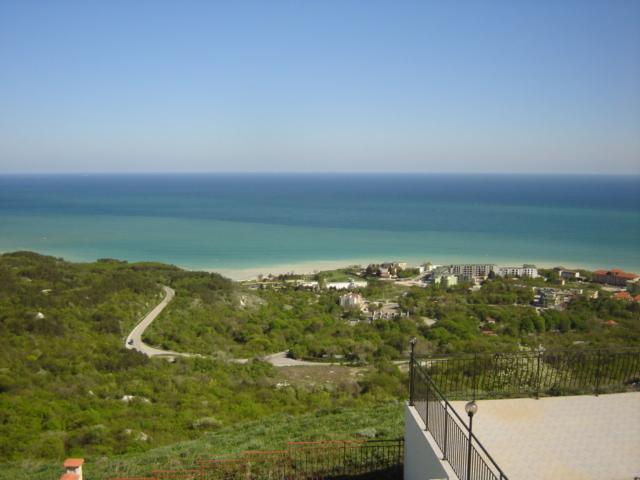Panoramic views of the beautiful coast line seen from the villa