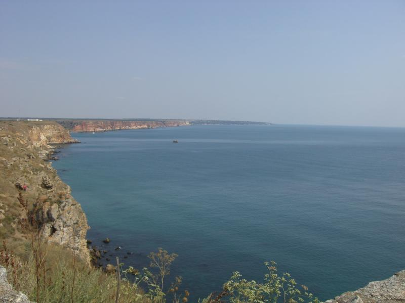 View of Cape Kaliakra in the distance
