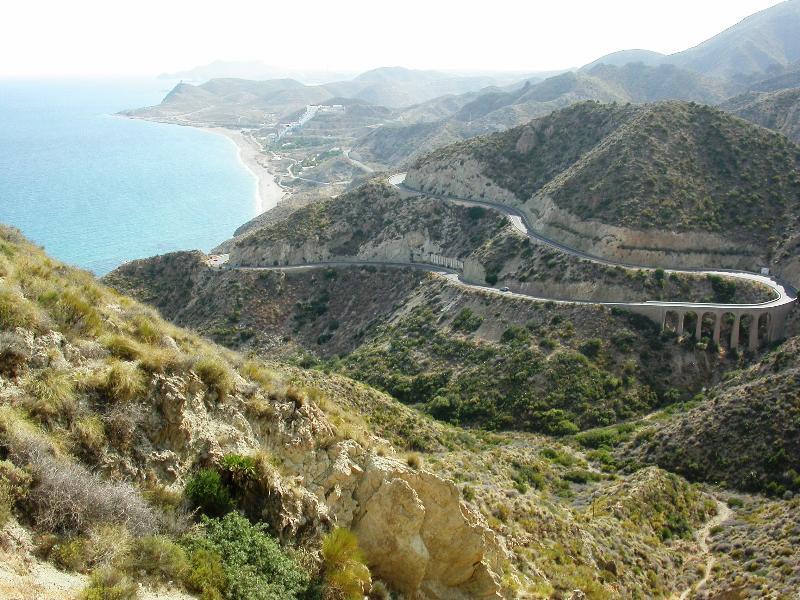 The coast road near Carboneras