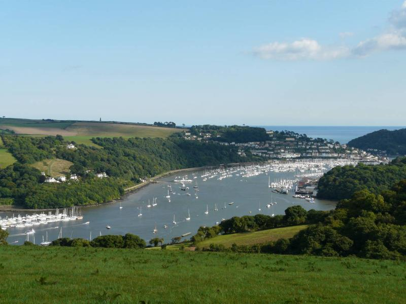 View looking down on Dartmouth