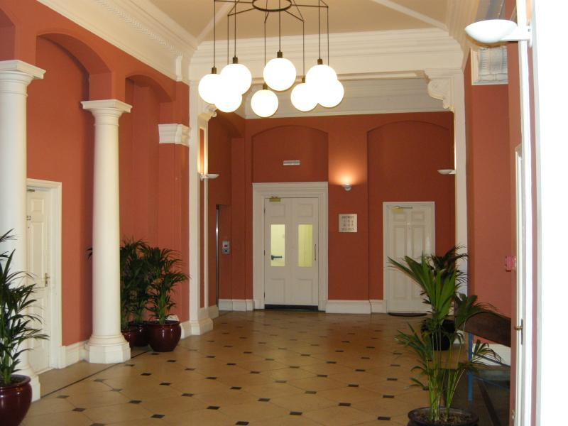 Entrance Hall in the building. Beautifully converted County Hospital, original features.