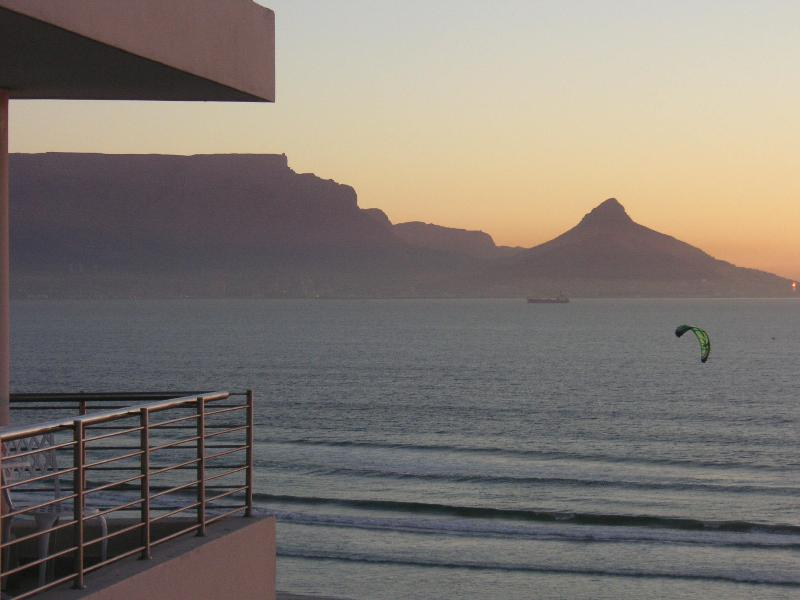 View from apartment: Left for Table Mountain, Right for Robben Island