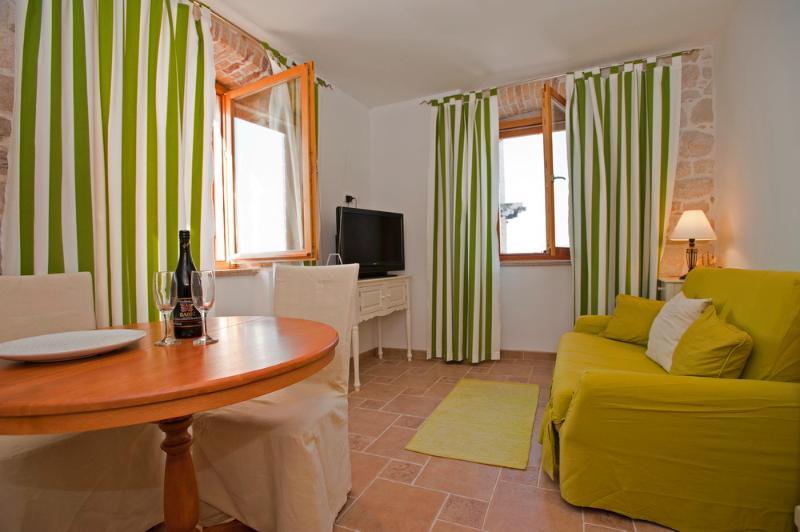 Olive apartment lounge area