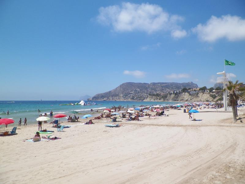 A view of Calpe's blue flag beach.
