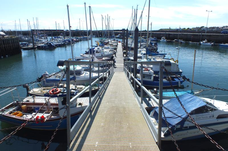 The gangway at Anstruther Marina. Fantastic.