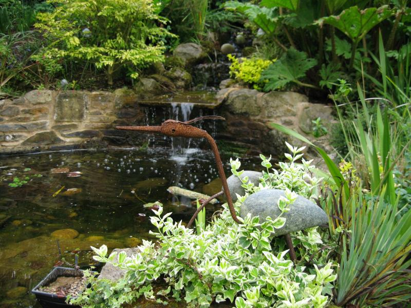 Water feature in shared garden