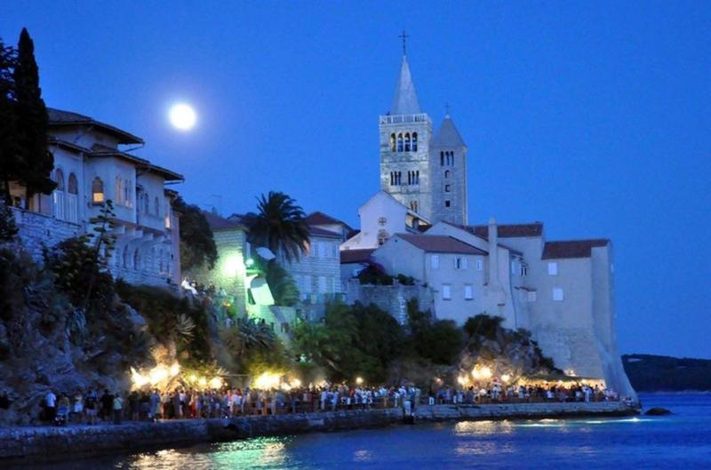 City of Rab at night