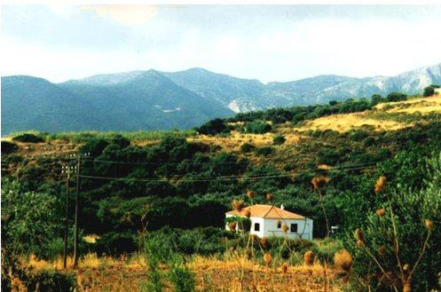 View of the house from the countryside