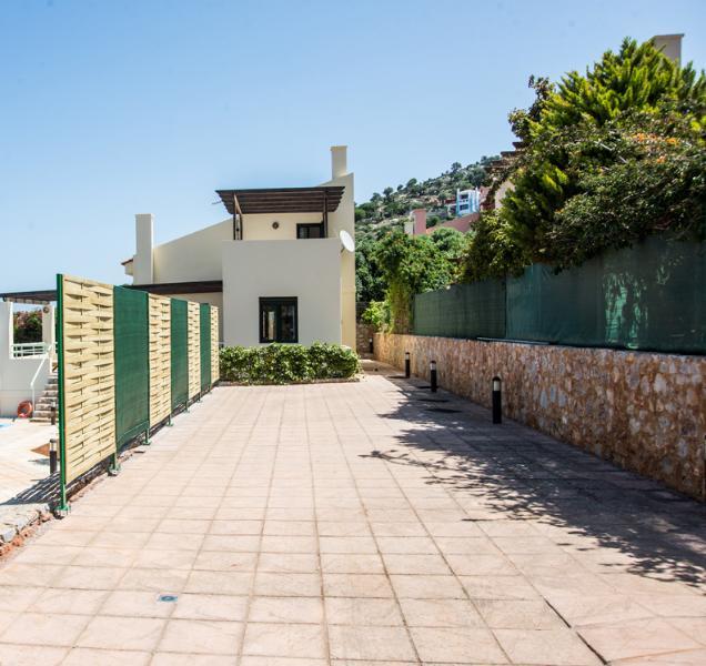 A entrada para o villa