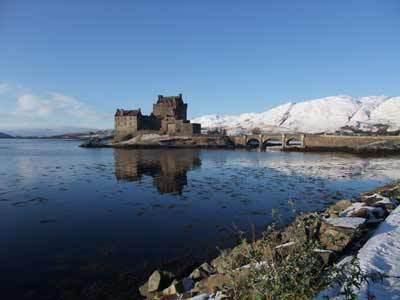 Eilean Donan castle is just a few minutes walk from the house