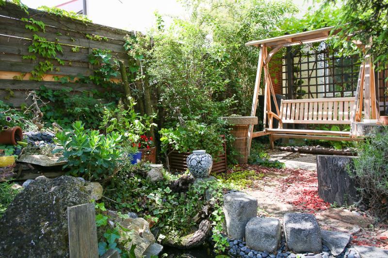 Garten für Hausgäste