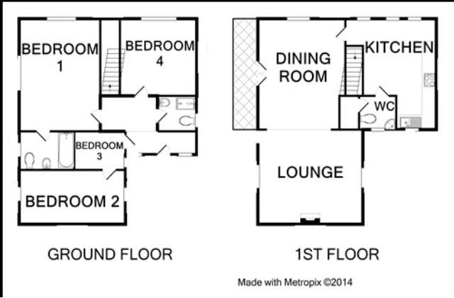 Floor plan for ground and 1st floor