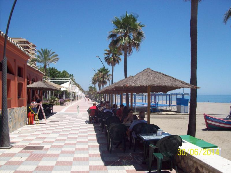 The Promenade directly in front of the apartment Block.