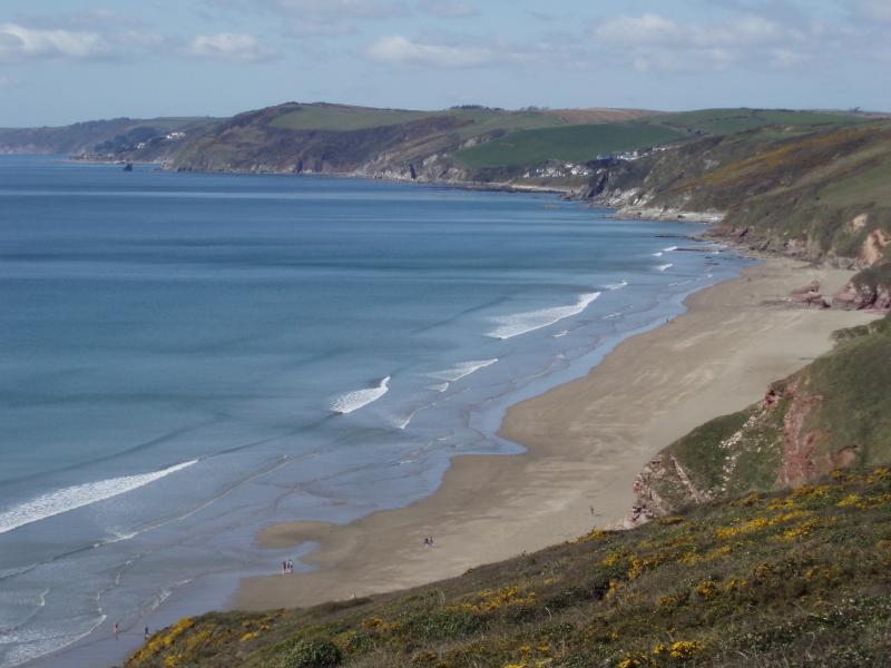 The beautiful beach at Whitsand Bay