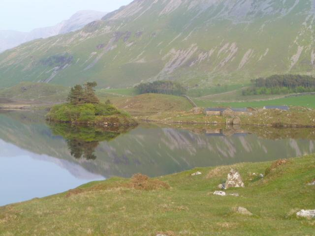Cregennan Lake on the foothills of Cader Idris mountain