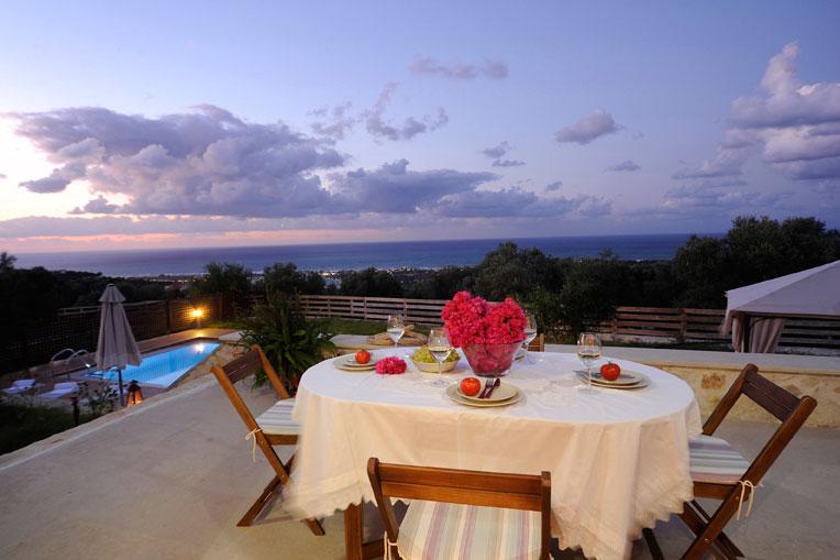 Night view from veranda
