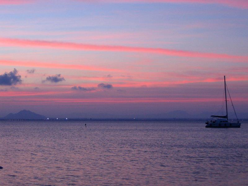 Sunset over the Mar Menor