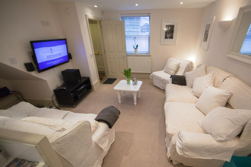 Comfy Sofas and a great TV for cosy evenings