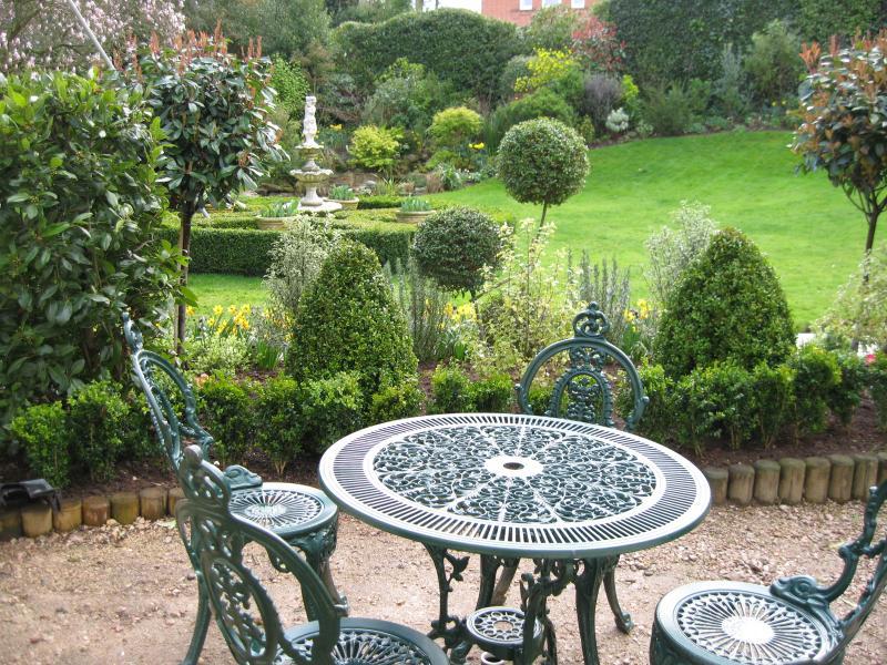 Enjoy sitting in the garden