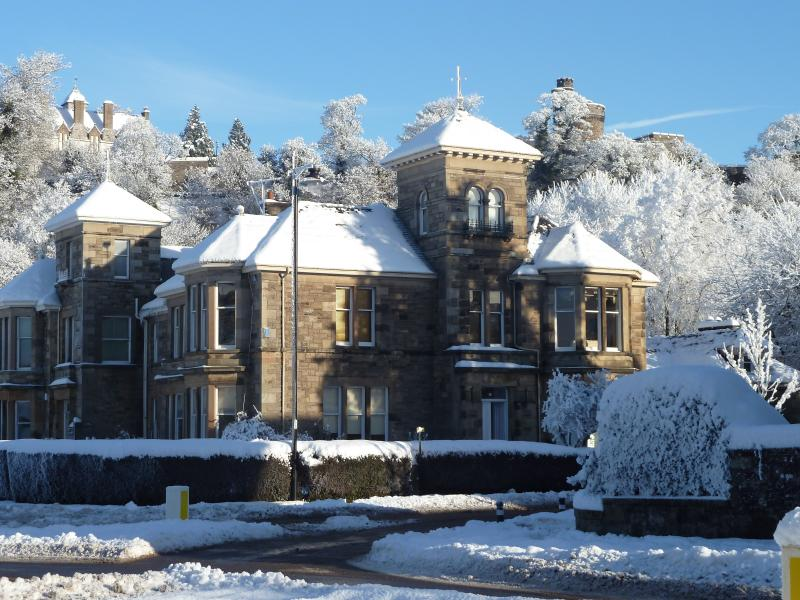 Royal gardens Apartments in the winter snow