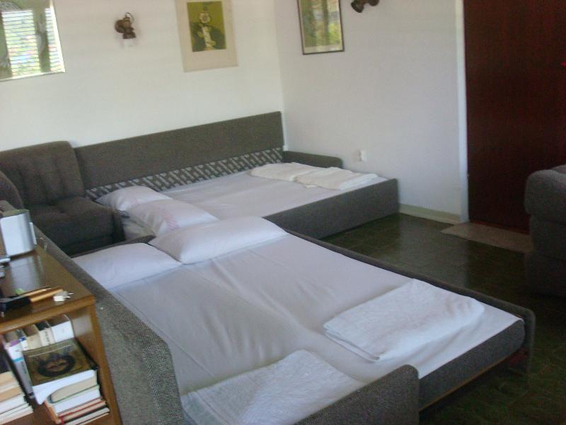 sofás-cama na sala grande