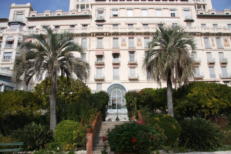 Riviera Palace building from the private gardens