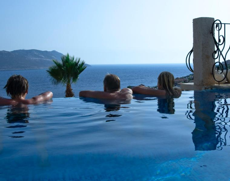 Viewing the Greek island Castellorizo, often called Megisti
