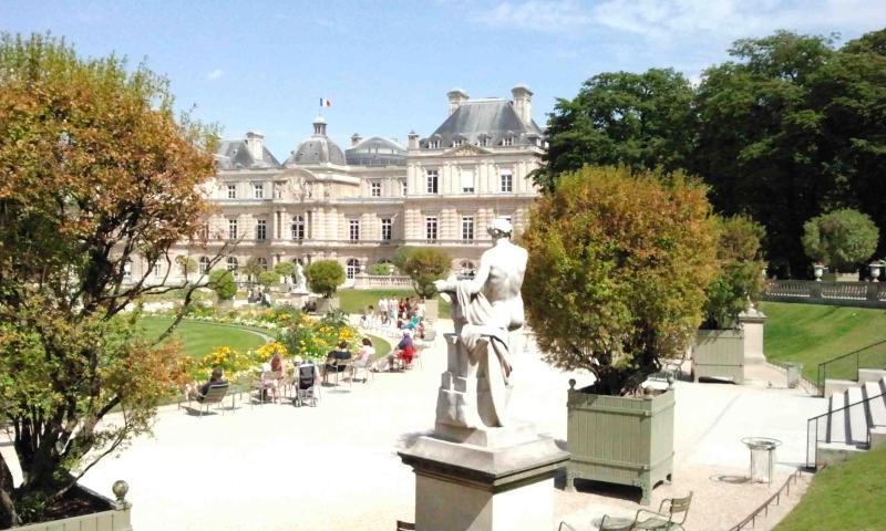 O Senado e o jardim de Luxemburgo