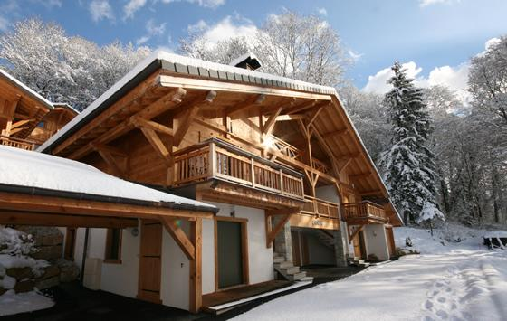 Chalet Orion in the snow