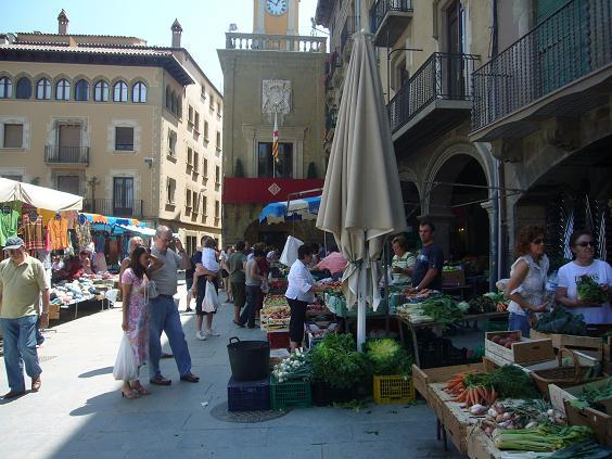 The market day in Vic Tuesdays and Saturdays is really worth a visit