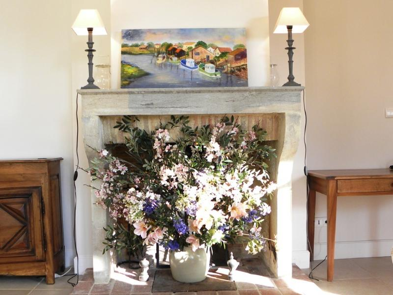 Flowers in the summer and a cosy fire on cold days