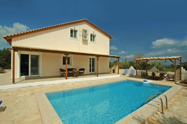 A stunning villa in Zante with private pool and sea views.