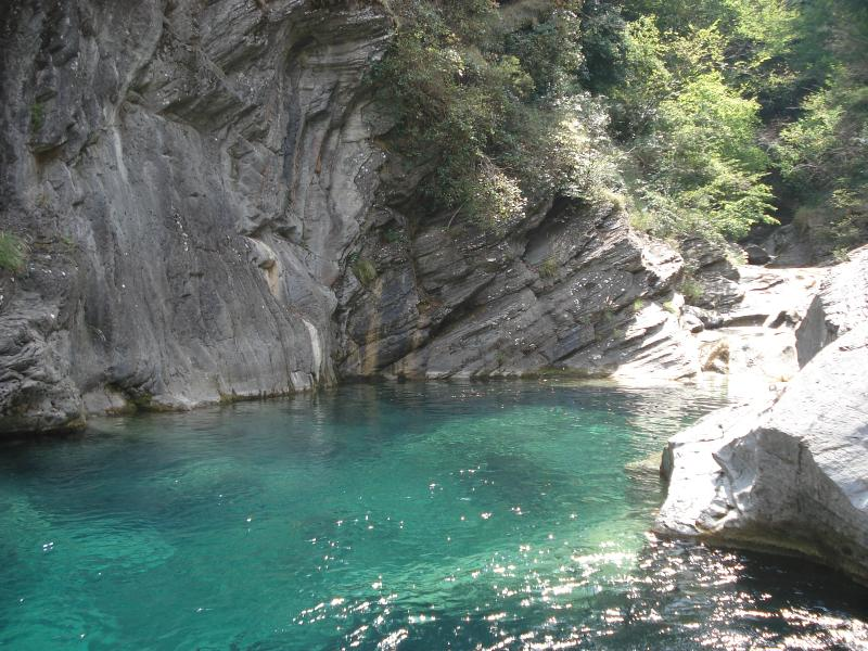 natural pools in the Argentina river