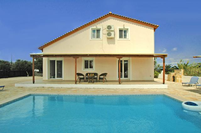 The villa offers privacy and is set in enclosed grounds.