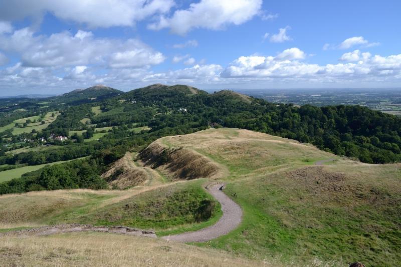 The Malvern Hills. Photo taken by Fiona Argyle.