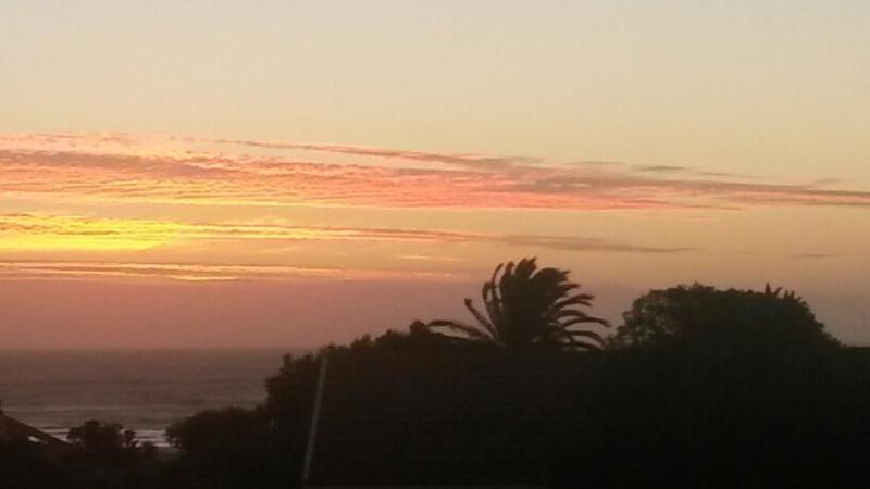 Sunset view over atlantic ocean