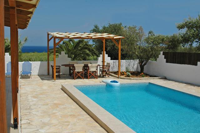 The villa is not overlooked.