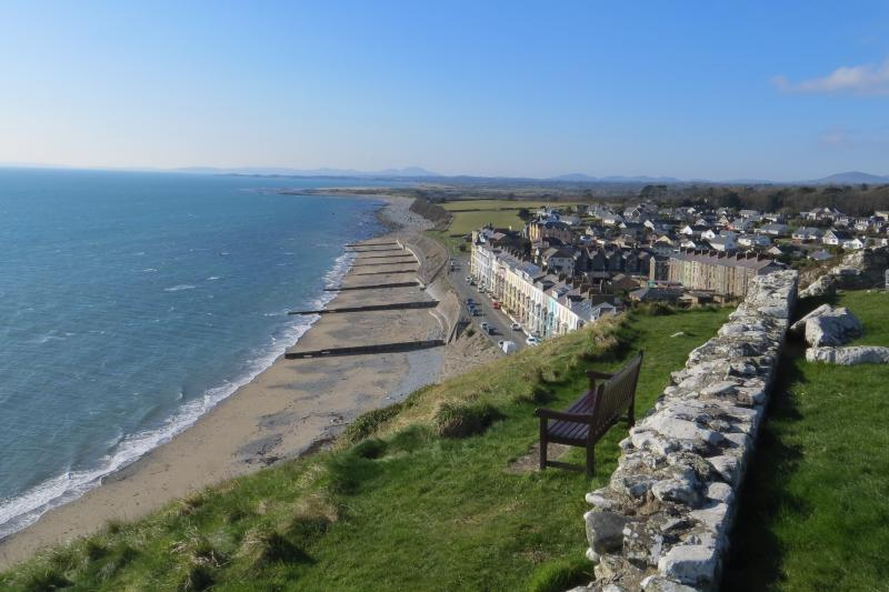 View of Bay View and Marine Terrace from Criccieth Castle