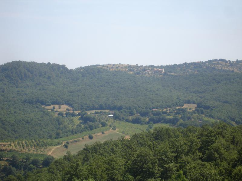 Views across the valley from the apartment terrace