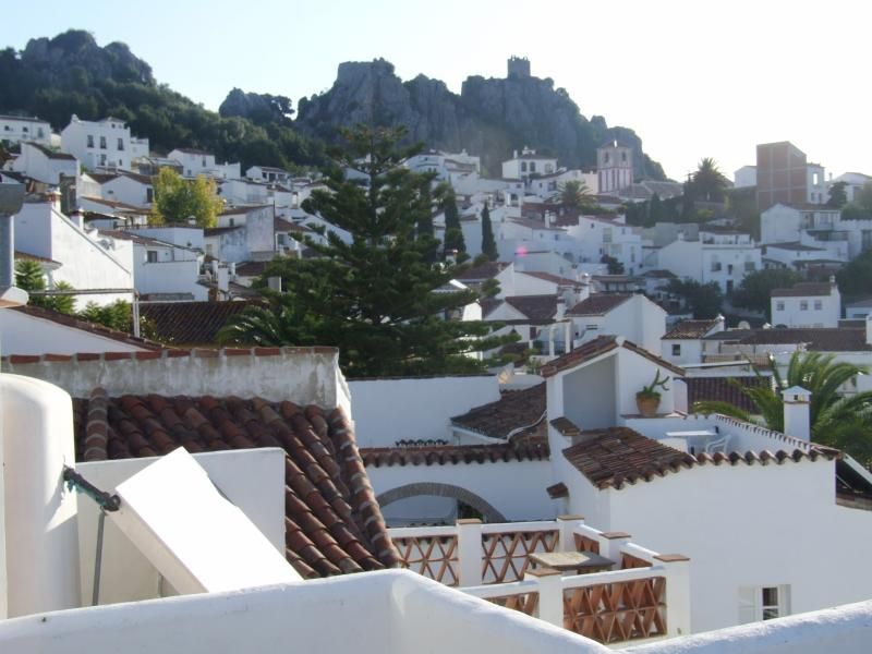 View towards the village from roof terrace