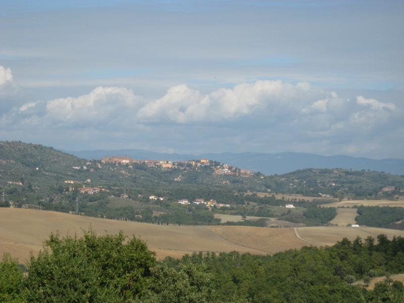 Views across the valley to Panicale