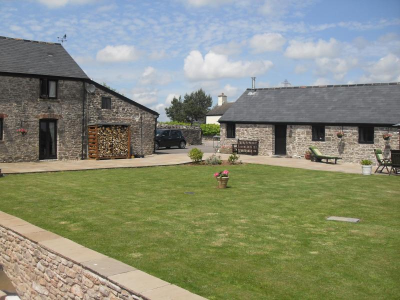 Within the courtyard of our own barn conversion.