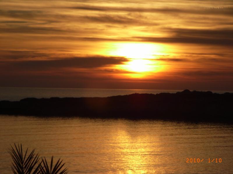 Coral Bay at Sunset