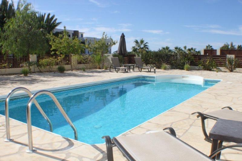 huge pool and terreced area