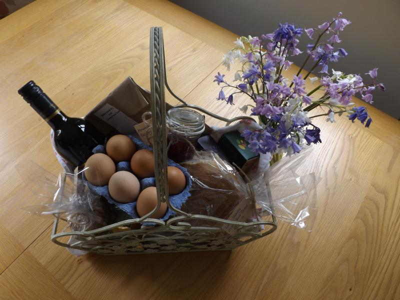 HAMPER PROVIDES HOMEMADE PRODUCE INCLUDING OUR OWN FREE RANGE EGGS