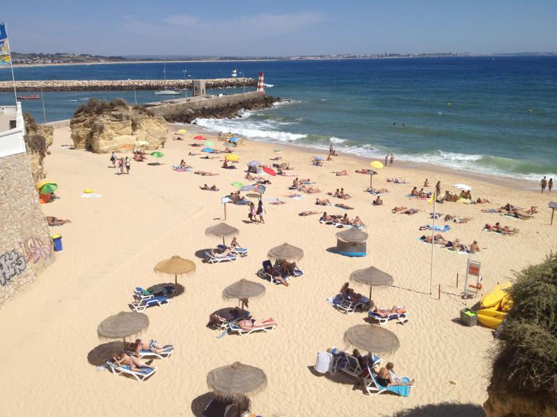 Praia da Batata, a beautiful beach minutes from the apartment which you pass strolling into town